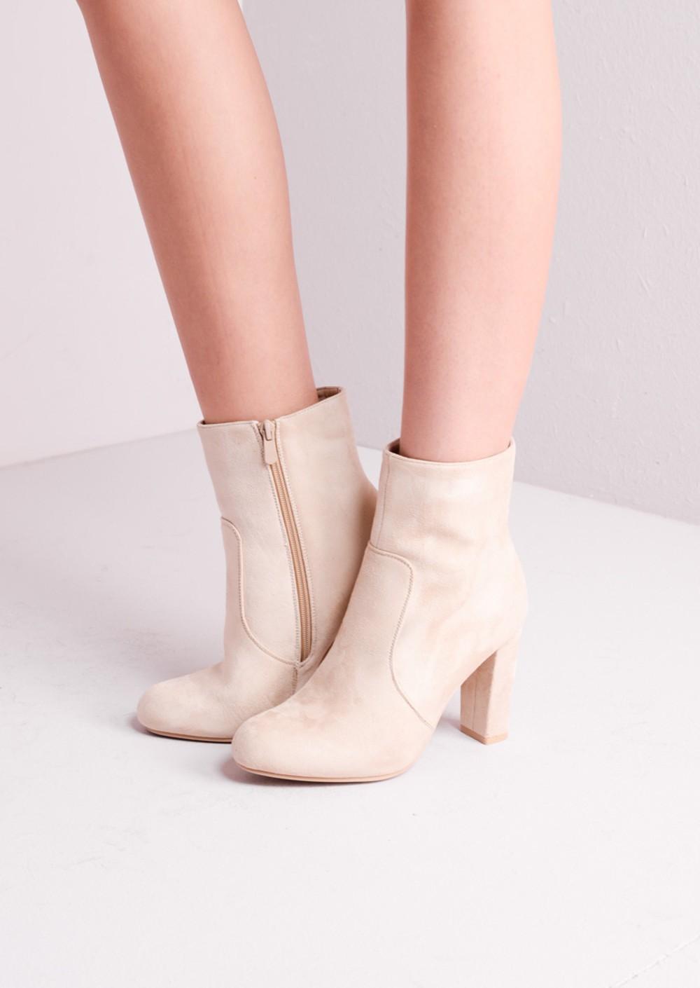 Womens Sage-59 High Heel Boot Nude
