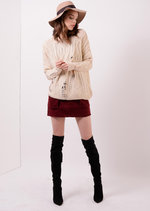 Kallie Distressed Oversized Jumper Cream