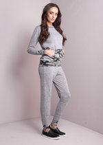 Camouflage Tracksuit Loungewear Set Co Ord Grey