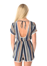 Carla Elephant Print Scoop Back Playsuit