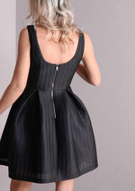 Cartwork Lace Texture Skater Dress Black