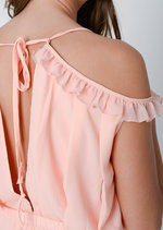 Trina Frill Playsuit Pink