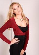 Chrissy Colour Block Jumpsuit Oxblood