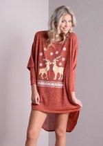 Dear Oversized Christmas Dip Hem Dress