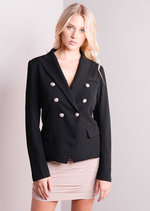 Double Breasted Suit Blazer Jacket Black