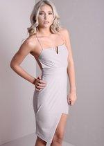 Ece Lilac Asymmetric Bodycon Dress