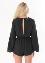 Fraya 70's Boho Split Sleeve Playsuit
