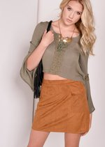 Neve Faux Suede Skirt