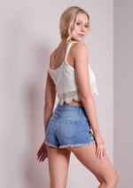 Ziva White Lace Crop Top