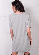 Graphic T Shirt Dress Grey