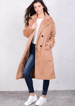 Longline Relaxed Fit Oversized Boyfriend Camel Coat
