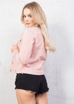 Trucker Denim Jacket Pink