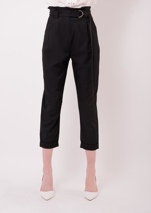 D Ring Trousers Pleated Waist Franca | Lily Lulu Fashion