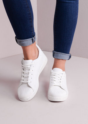 Flatform Shell Toe Trainers White
