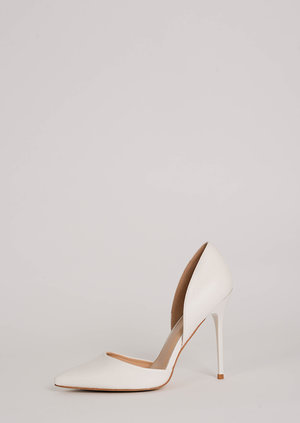 Kiki White Court Stilettos