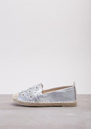 Blossom Espadrilles Flats Silver