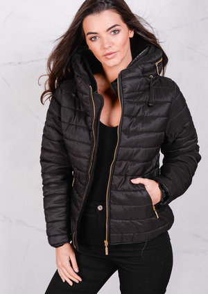 Lightweight Quilted Puffer JacketBlack Coat