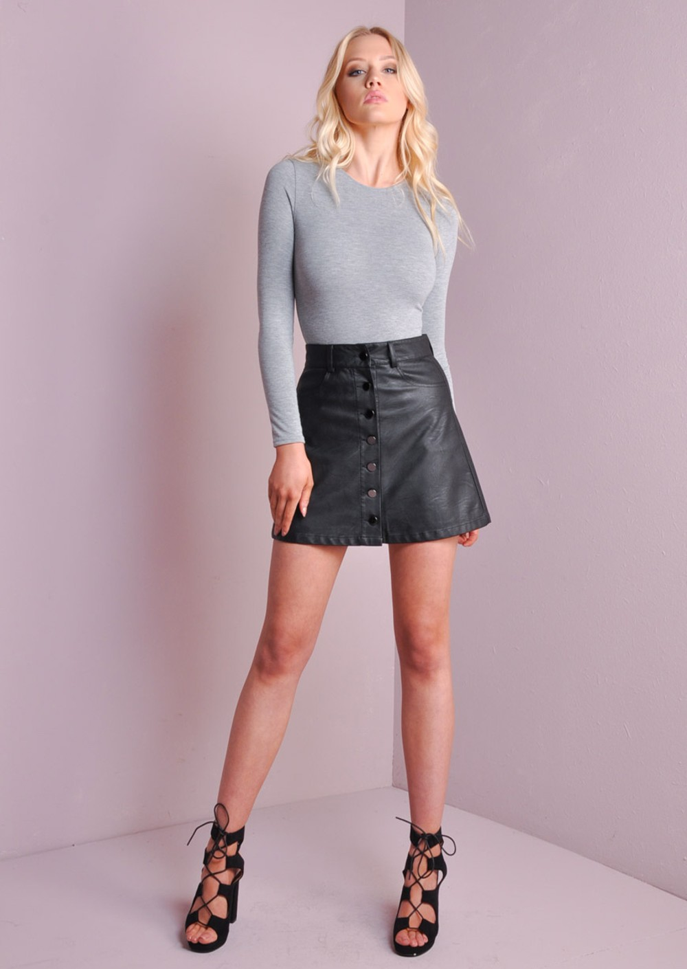 Up Leather Skirt 27