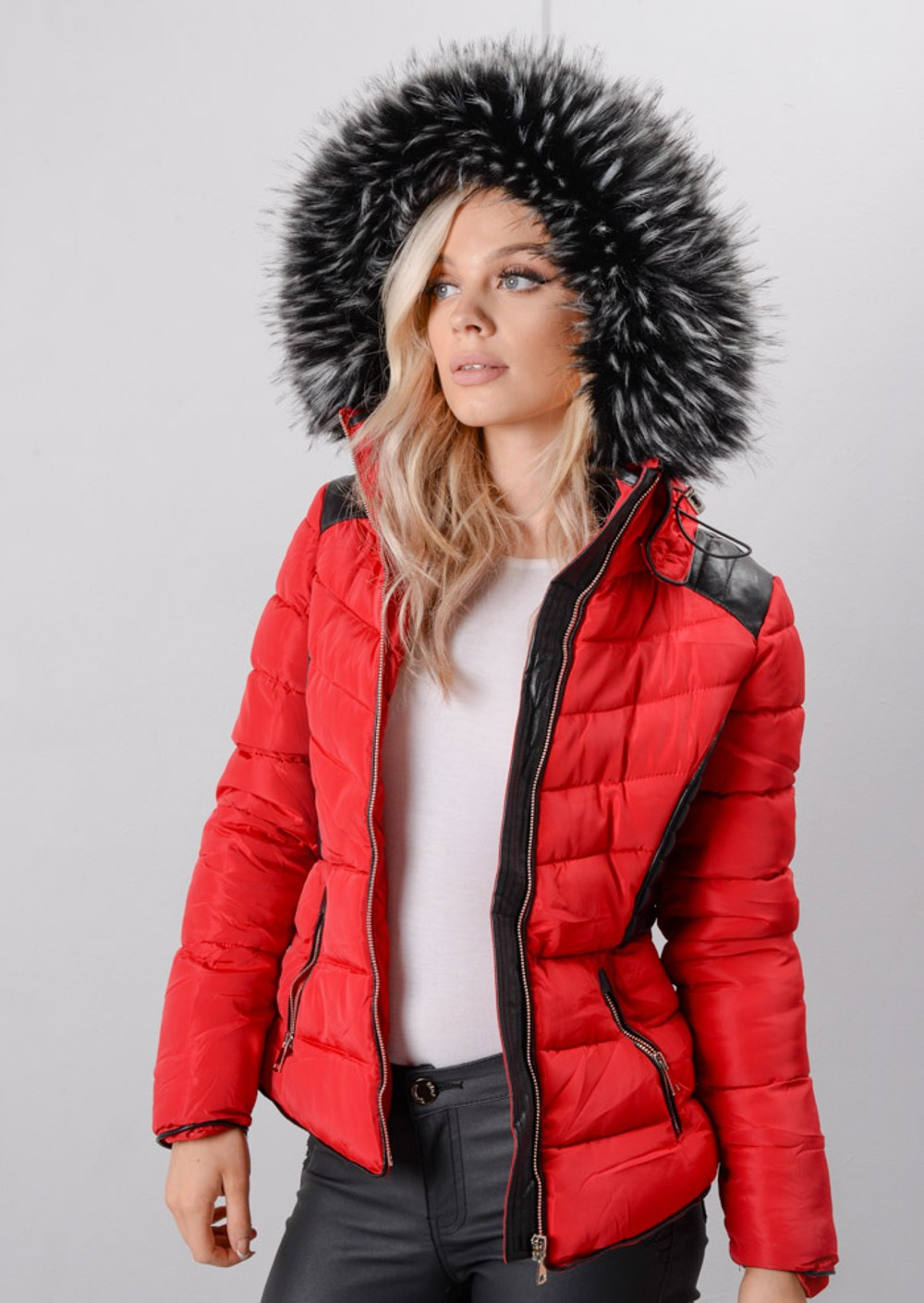 Women's Fur Hooded Coats | Quilted Jackets | Hood Parka Lily Lulu