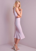 Bodycon Frill Hem Dress Lilac