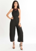 Carla Cut Out Jumpsuit Black