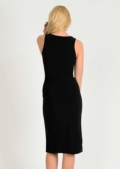 Casey Side Split Dress Black