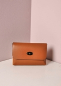 Leather Clutch Shoulder Bag Tan
