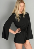 Fraya Seventies Boho Split Sleeve Playsuit