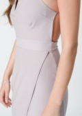 Ece Lilac Asymmetric Bodycon Dress