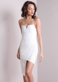 Ece White Asymmetric Bodycon Dress