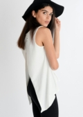Enya Basic Open Back Top White