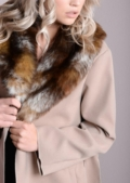 Faux Fur Collar Oversized Longline Coat Camel