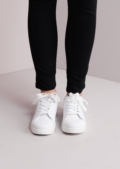 Flatform Shell Toe Trainers White With Black Tab