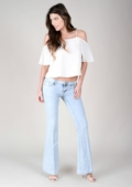 Gabriela Light Wash Flares