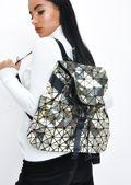 Geometric Backpack Gold