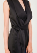 Harmony Black Waterfall Waistcoat With Tie