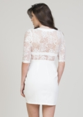 Misha Lace Insert Dress White
