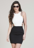 Perry Cut Out Monochrome Bodycon