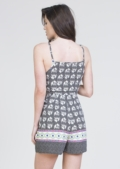 Liv Elephant Print Playsuit Black