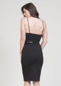 Tessie Bodycon & Belt Dress Black