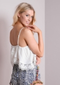Kady Lace Trim Open Back Top