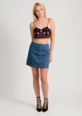 Kelly Embroidered Crop Top