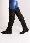 Knee High Flat Boots Black