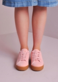 Lace Up Flatform Creepers Pink