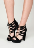Laci Cross Lace Up Heels