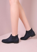 Suede Slip On Chelsea Boots Blue