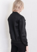 Utility Perforated Bomber Jacket Black