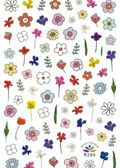 Assorted Floral Nail Art Stick On Stickers Pack Multi