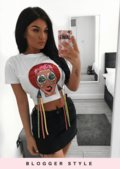 Girls Face With Tassels T-Shirt White