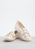 Blossom Espadrille Flats In Metallic Gold